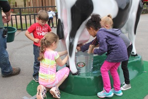 The first Dairy Day celebrated for National Dairy Month featured dairy trivia and free ice cream samples. The day was such a big hit that Byrne Dairy ran out of ice cream.